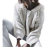 ❤️Femme Chandails Pull Amlaiworld Femmes Pull en Maille à Manches Longues à Capuche Pull Pull Tops Tricot Sweatshirt