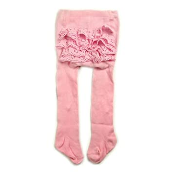 BABY GIRLS BABIES TIGHTS PINK  FRILLY FRILLS FRILLED COTTON RICH