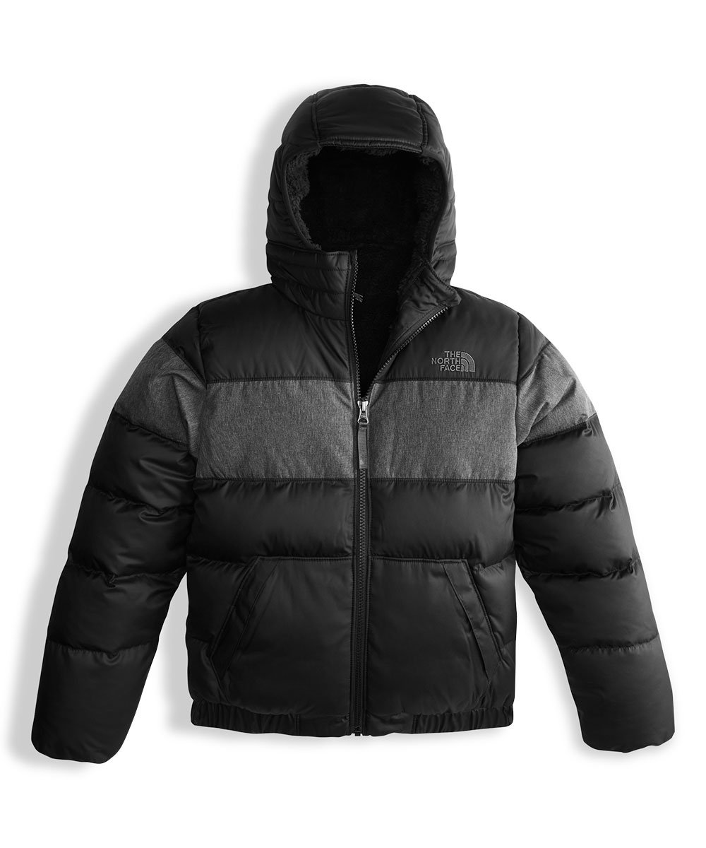 The North Face Big Boys' Moondoggy 2.0 Down Hoodie - tnf black, l/14-16 by The North Face