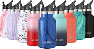 Gold Armour Gulpbliss Double Wall Vacuum Insulated Stainless Steel Leak Proof Sports Water Bottle, Narrow Mouth with Bpa Free Slip Free