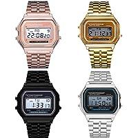Voiks Reloj Digital para Hombre de Cuarzo con Correa en Acero Inoxidable