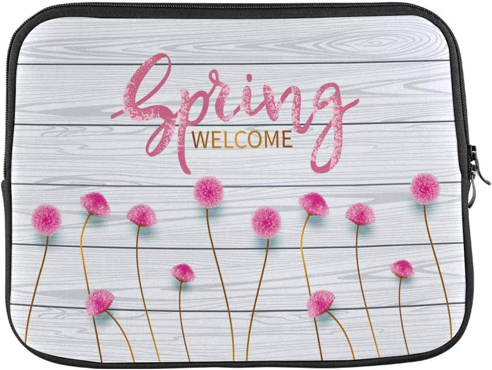 Spring Pink Floral Laptop Sleeve Case 13 13.3 Inch Briefcase Cover Protective Notebook Laptop Bag