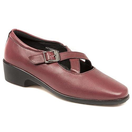 Pavers - Mocasines de Piel para Mujer Rojo Granate: Amazon.es: Zapatos y complementos