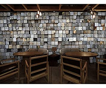 retro brown wood mural coffee bar internet cafe clothing shop restaurant decoration stereo square wallpaper