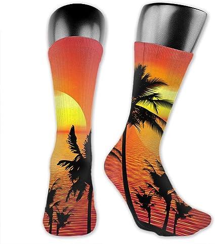 SARA NELL Women Lady Girls Classics Crew Socks Cool Tiger Personalized Athletic Dress Socks 30cm Long-All Season