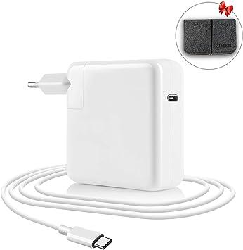 ZIMER Compatible con Macbook Pro USB C Cargador 61w, reemplazo ...