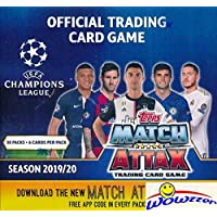$79 » 2019/20 Topps Match Attax Champions League Soccer MASSIVE 50 Pack Factory Sealed Box with 300 Cards! Look for Top Stars including Lionel…