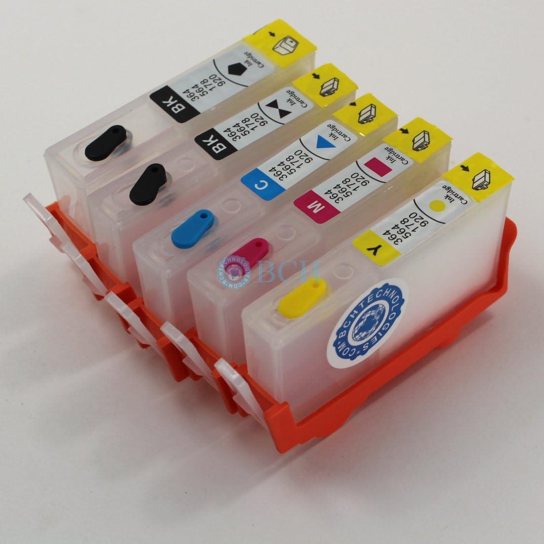Amazon.com: BCH rellenables Jet Cartuchos de tinta para HP ...