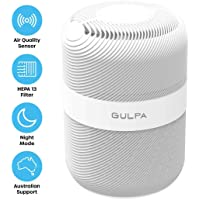 GULPA True HEPA 13 Air Purifier with 3 Stage Filter Reduce Pet Dander, Odour, Smoke & Dust Sensor, Sleep, Timer & Auto Mode, Whisper Quiet, Auto Replacement Remind Aussie Support