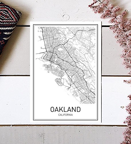 Oakland Poster, Map of Oakland, Oakland Map, City Map Posters, Modern Map Art, City Prints, California Art, Minimal Print, Oakland Wall Art, City Poster, City Map Wall Art, minimalist posters, 8x10 (Oakland Map)