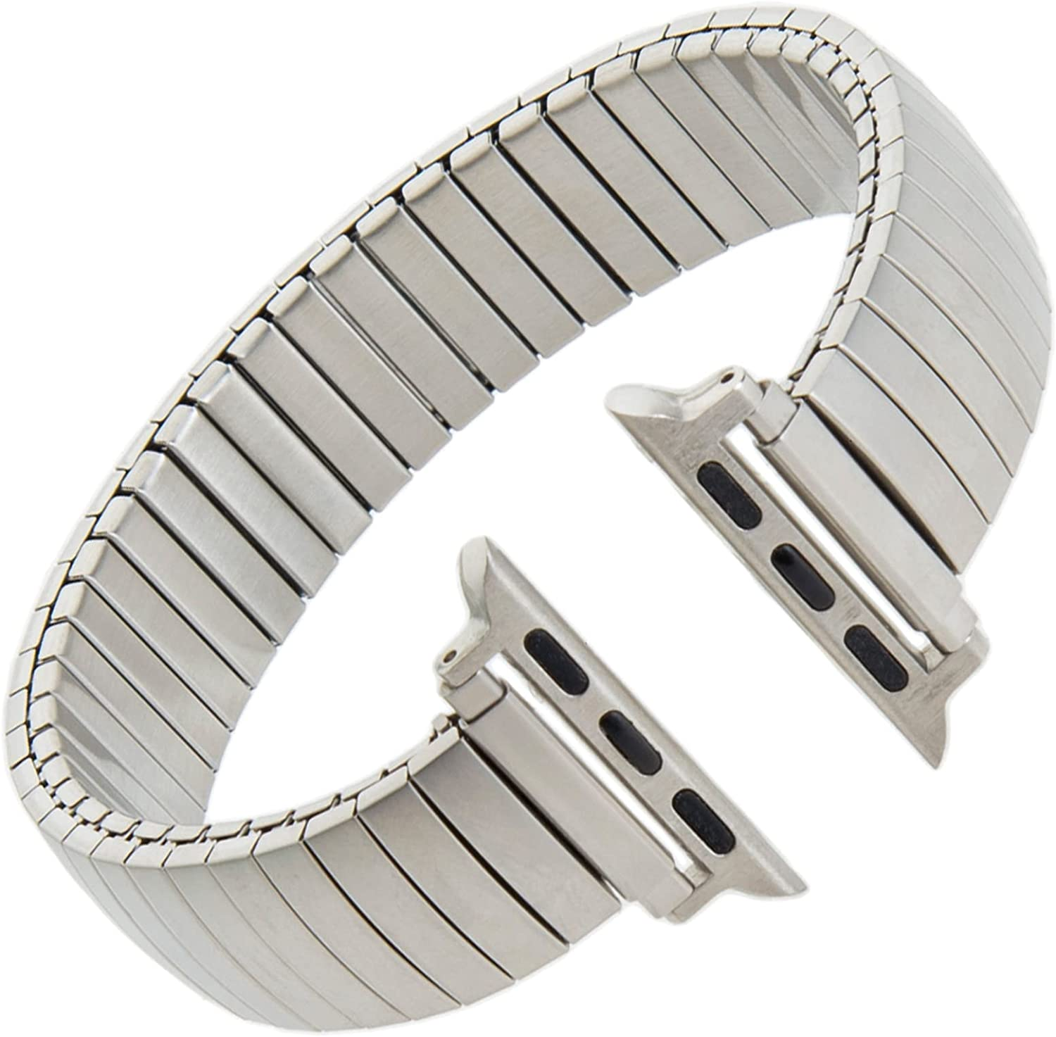 Gilden Expansion Extra-Long Matte Stainless Steel Smart Watch Band 500-SL-SMART, fits Apple Apple Watch in sizes 38mm/40mm