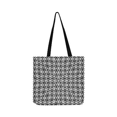 f74788c9bb57 Geometric Rhombus Navy Figures Canvas Tote Handbag Shoulder ...