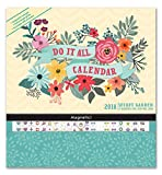 img - for Orange Circle Studio 17-Month 2018 Do It All Magnetic Wall Calendar, Secret Garden book / textbook / text book