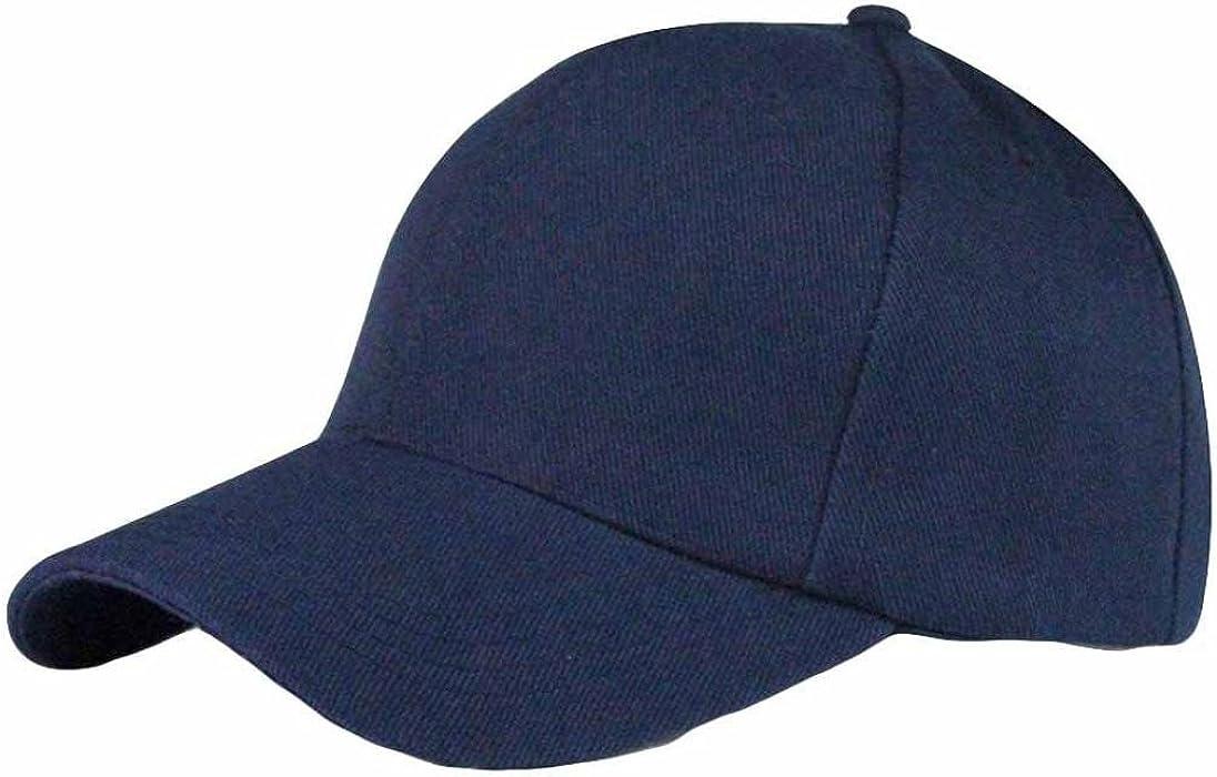 Gorra de Béisbol Snapback,Unisex Sólido Sombrero de Moda Hip-Hop Ajustable Absolute