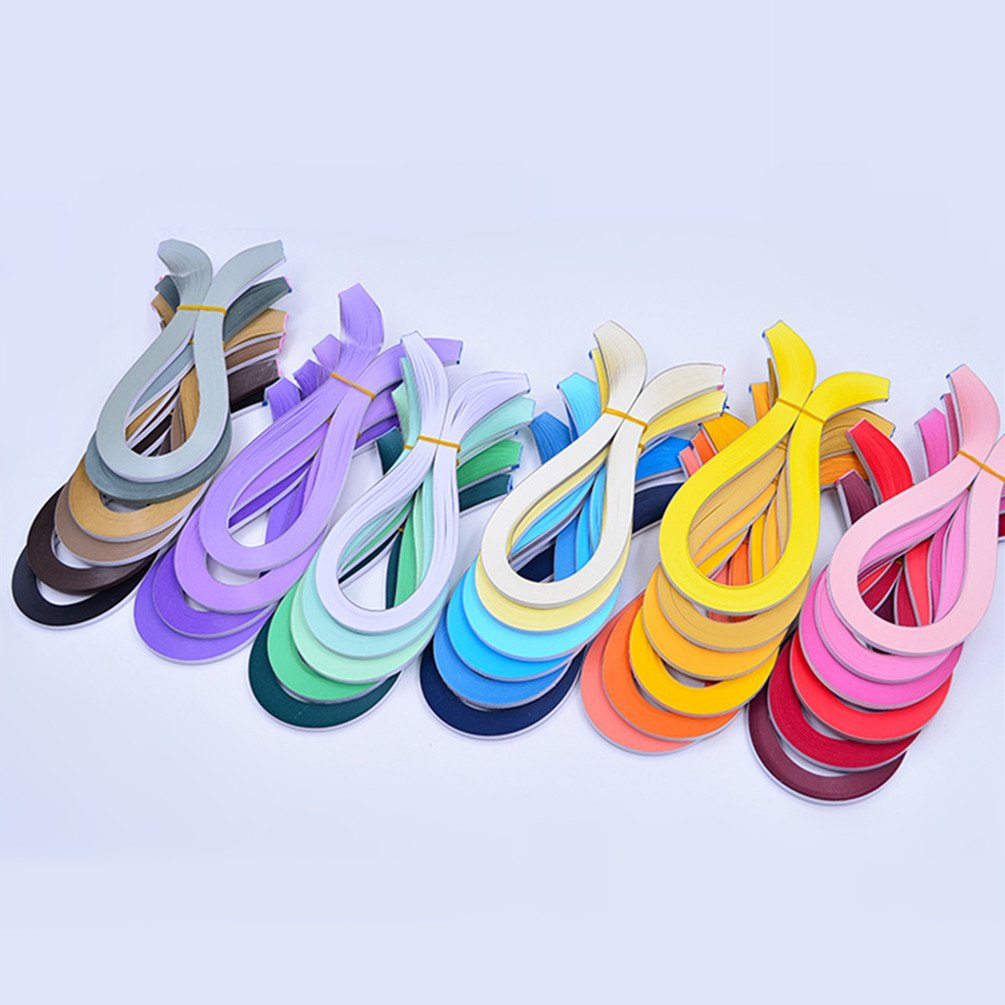YURROAD Paper Quilling Kits 5mm Wide Paper with 33 Colors 3960 Strips and Slotted Tool (33 Pack 33 Colors) by YURROAD (Image #3)
