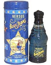 Gianni Versace Versus Blue Jeans for Men, Eau De toilette Spray, 2.5-Ounce