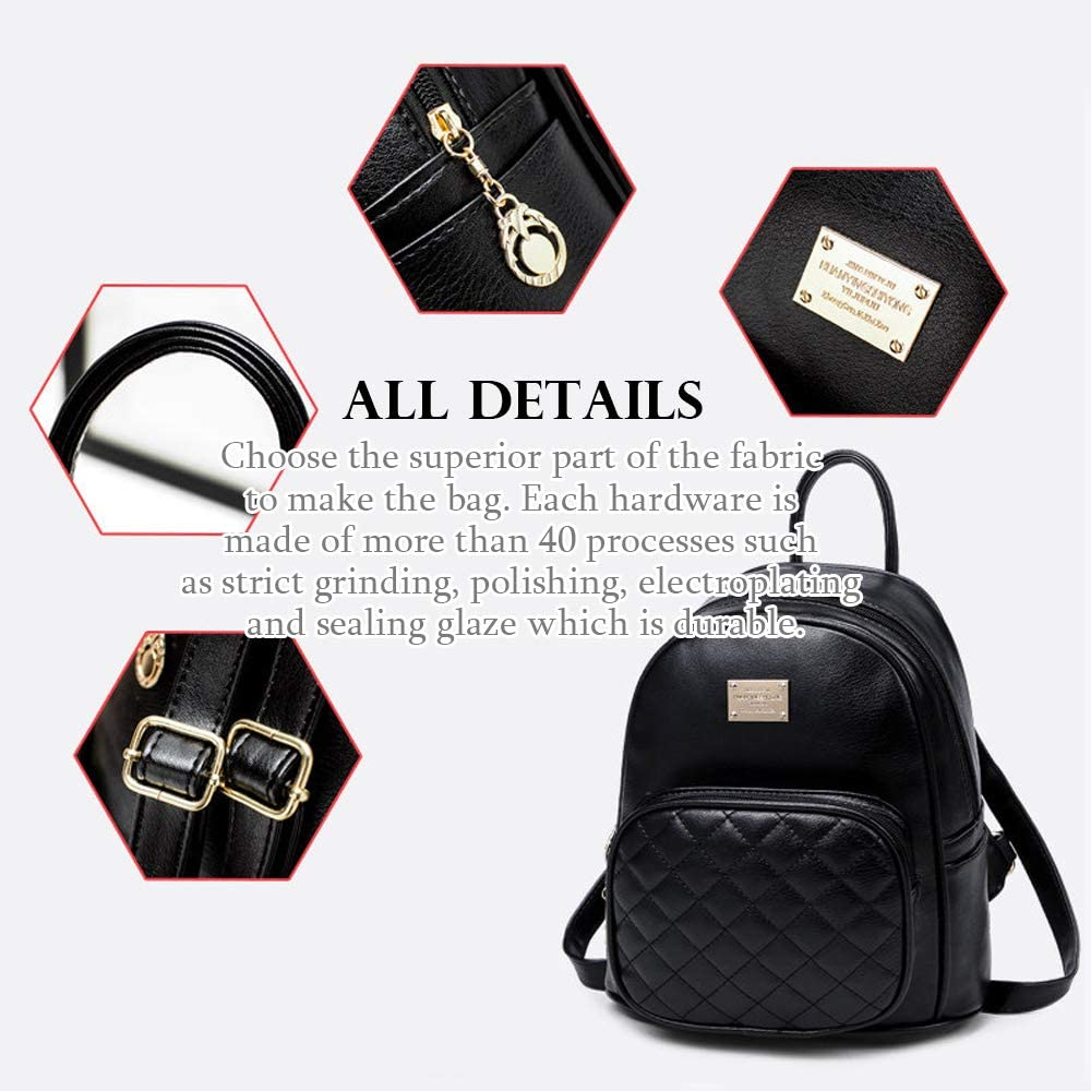 BAGZY Women Backpack Ladies Synthetic Leather Rucksack Travel Waterproof Daypack Anti theft Fashion School Bags Lightweight Shoulder Bag for Womens Girl