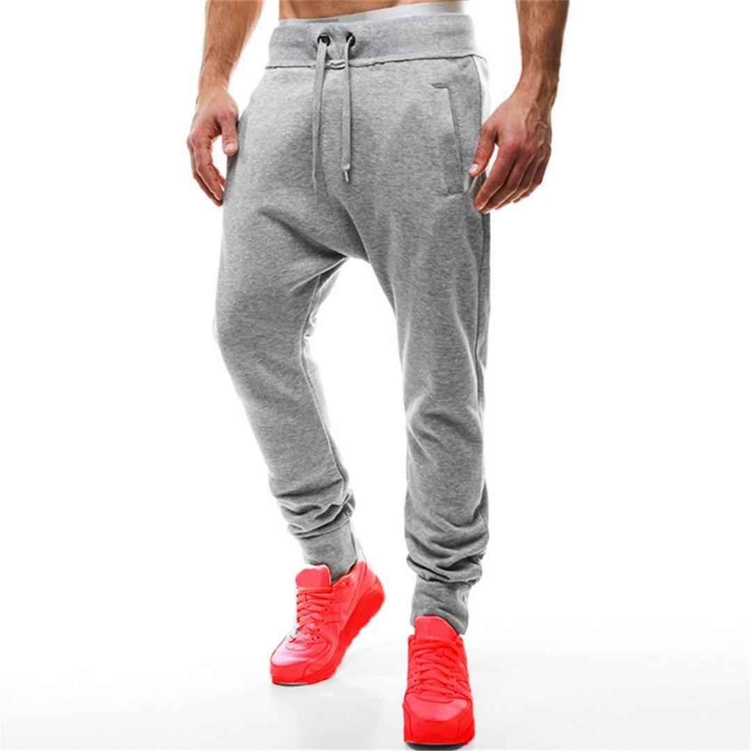 Men's Sweat Pants Hip-Hop Harem Loose Loose Sweatpants Light Grey M