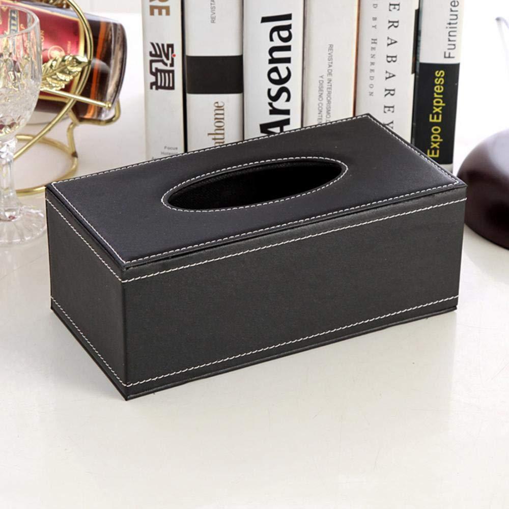 Premium tessuto box di supporto in legno da salviette scatola per fazzoletti per il bagno casa ufficio auto telecomando per fazzoletti taglia unica Red kleenex fazzoletti titolari