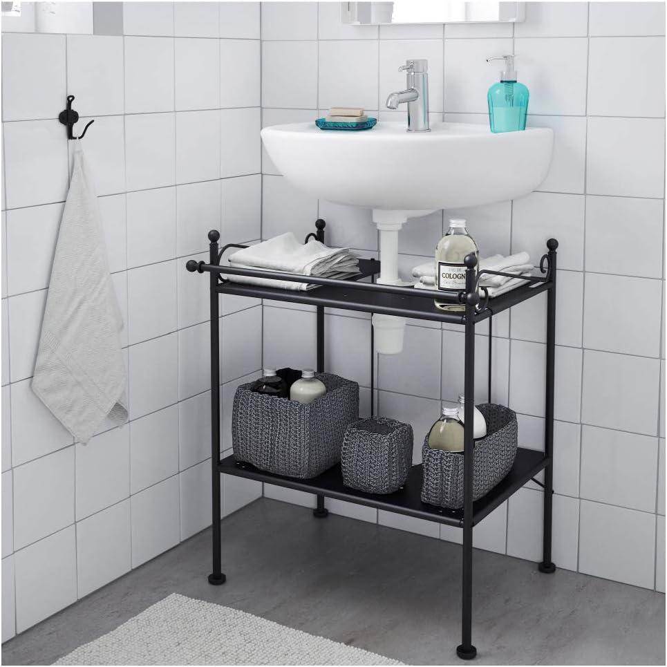 IKEA ASIA RONNSKAR - Estante para Lavabo, Color Negro: Amazon ...