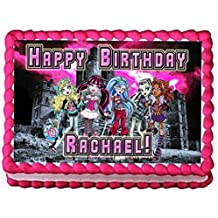 "Monster High ""Night School"" 1/4 Sheet Edible Photo Birthday Cake Topper. ~ Personalized!"