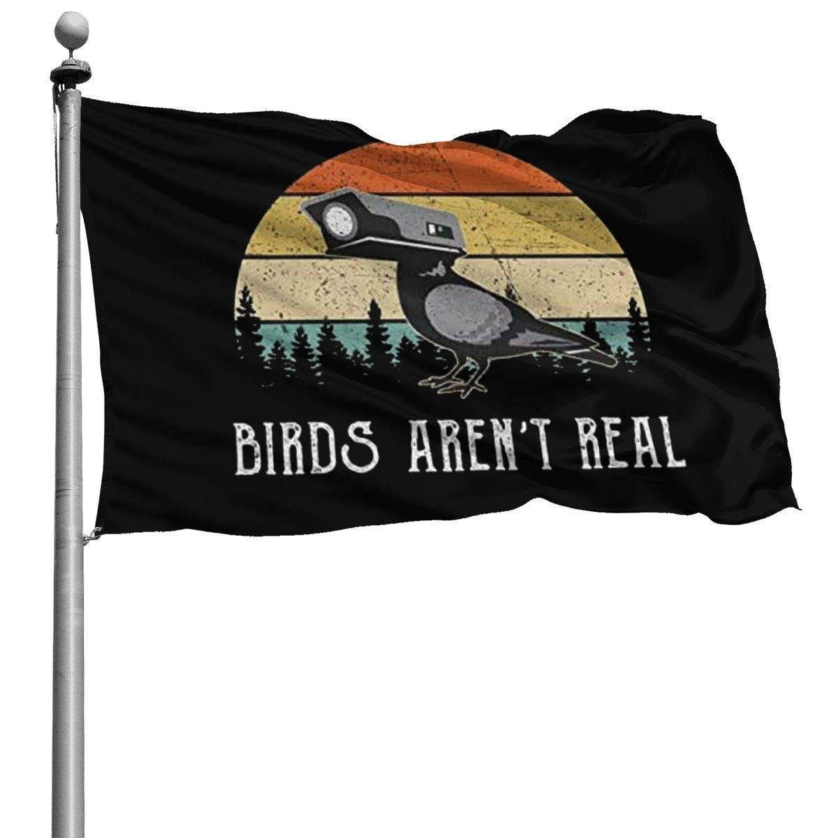 Vipsung Vintage Birds Aren T Real Funny Conspiracy Theory Usa Flag 4x6ft Standard Flag Outdoor Uv Proof Polyester Flag Family Home House Garden Decoration Flags