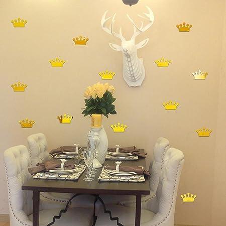 Hunpta 3D Acrylic Mirror Wall Sticker Home Decoration Princess Crown ...