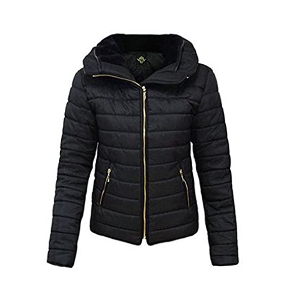 987c8be774b8 MINNI ROSSA ® Ladies Quilted Padded Puffer Jacket Bubble Fur Collar Warm  Thick Womens Coat  Amazon.co.uk  Clothing