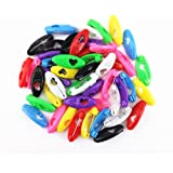 yueton 48pcs Assorted Color Fashion Plastic Cover Scarves Safety Pin, Scarf Pins, Hijab Pins, Brooch Pins, Safety Locking Bab