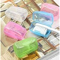 JIJI886 Lot de 5 boîtes de Rangement en Plastique Portables pour Le Camping, Les Voyages, la Salle de Bain, 4 x 2 x 2,5 cm