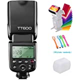 Godox TT600 Camera Flash Speedlite Master Slave Off GN60 Built-in 2.4G Wireless X System Transmission Compatible for Canon, N