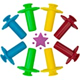 Kiddy Dough 8-Piece Clay & Dough Extruders – Mega Fun Playset Includes 8 Colorful Extruder Tools Featuring 4 Unique Surprise Shapes – Bulk Party Pack Great for Home or School