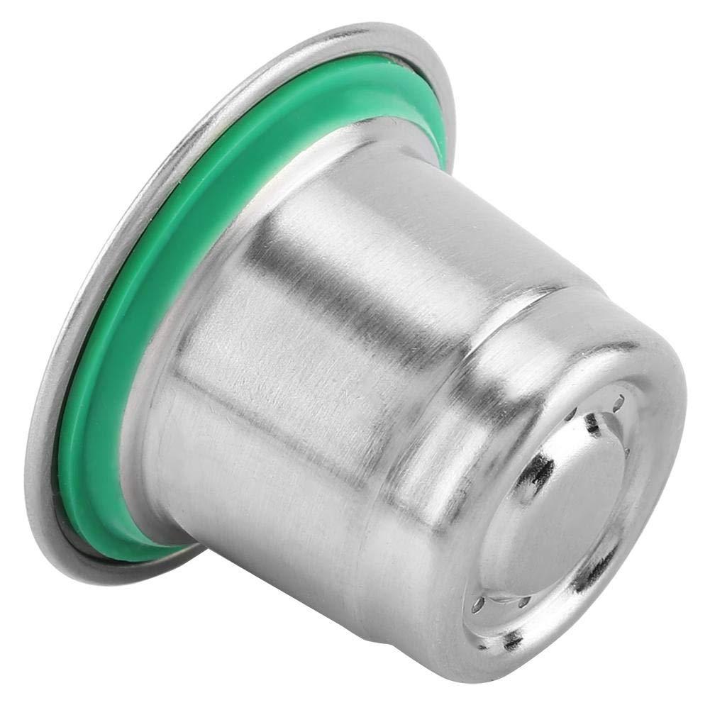 C/ápsula reutilizable recargable del caf/é del acero inoxidable de Pasamer compatible para la m/áquina del caf/é de Nespresso