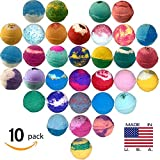 Amazon Price History for:10 Large Bath Bombs, USA Made Gift Set - Ultra Lush Bath Fizzies -Over 200 Different Varieties, Assorted Gift Box Vegan Kids Love Them Perfect Gift For Her Spa Moisturize Kit Organic Shea Butter