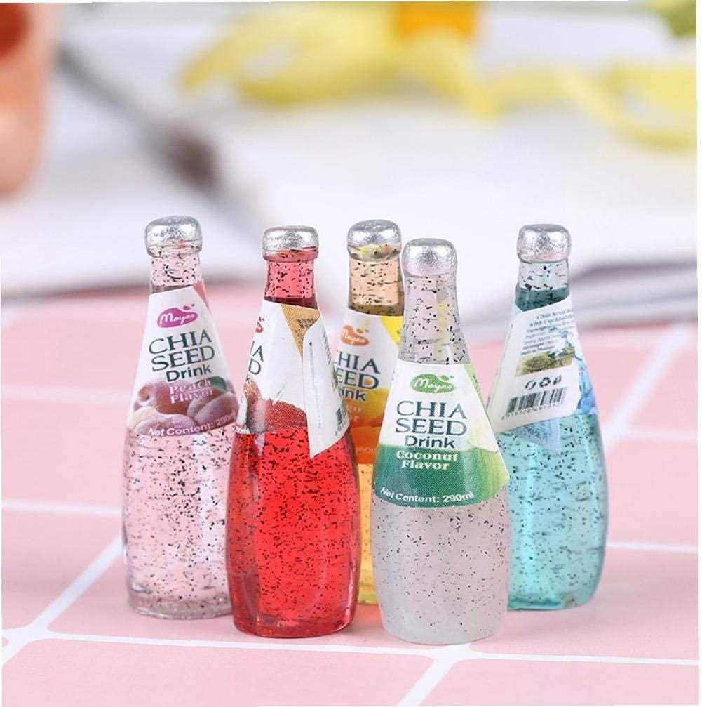 Dollhouse Miniature Food Mini Resin Fruit Simulation Drinks Drink Bottle