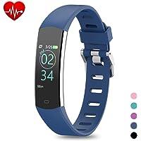 BingoFit Fitness Armband mit Pulsmesser Wasserdicht Fitness Tracker Farbbildschirm Aktivitätstracker Schrittzähler Uhr mit Schlafen Anruf SMS Nachricht für Damen Herren Kinder