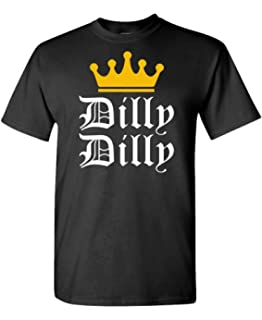 024ec983d2b Dilly Dilly - Funny Beer King Light Joke - Mens Cotton T-Shirt