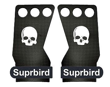 SUPRBIRD Grips 3H - Calleras para Crossfit Grips Gymnastics, Pullups, Weight Lifting, Chin Ups Protect Your Palms - Guantes Gimnasio