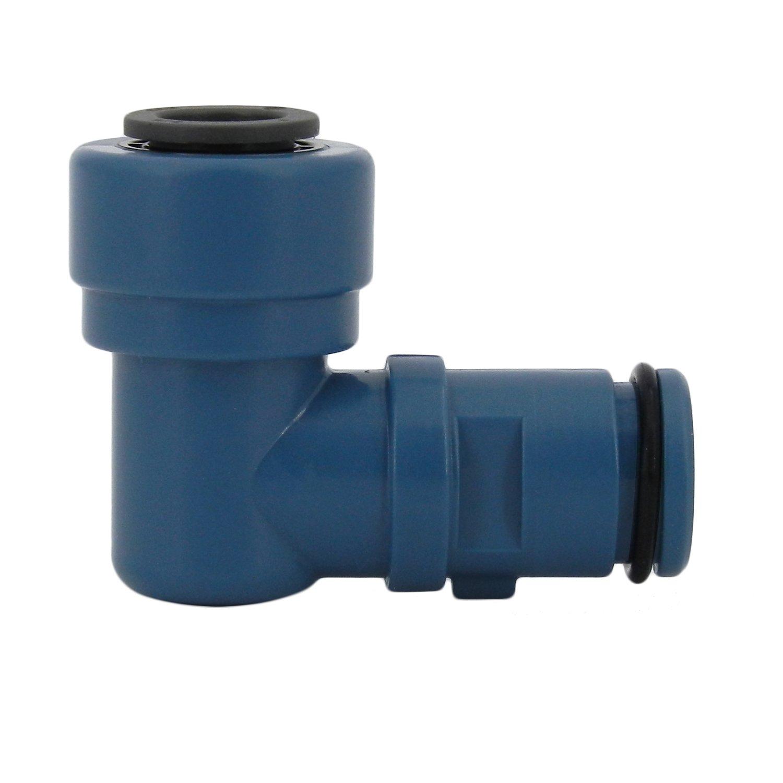 Hydro-Logic Dark Blue Drain Elbow for Merlin GP, 3/8''