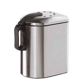Amazon.com: Oggi Deluxe Countertop cubeta para compost con ...