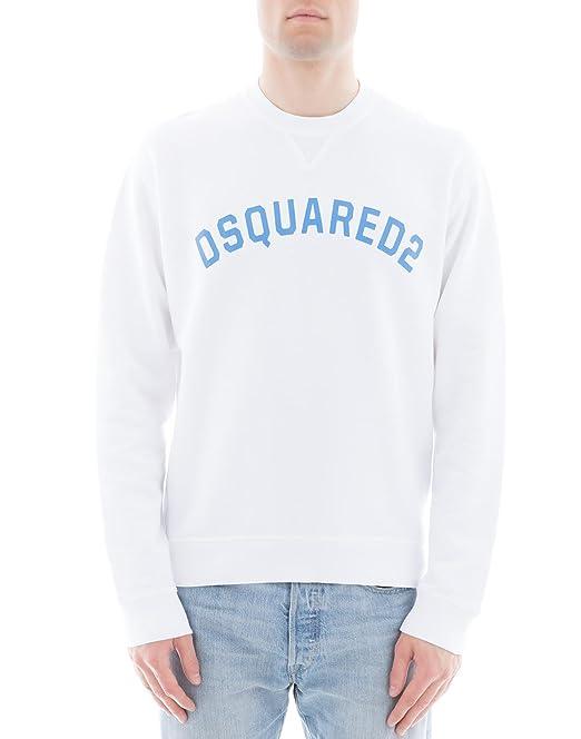 DSquared Sudadera - para hombre Blanco blanco 46: Amazon.es: Ropa y accesorios