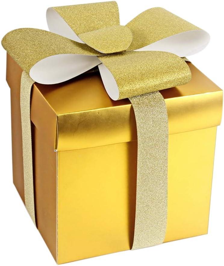 Caja de Regalo, Presente portátil Embalaje Candy Cake Goodies Treats Cajas para Navidad Cumpleaños Bodas Fiestas