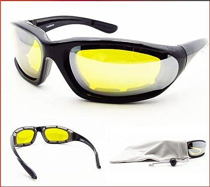 f77ecf4c36e Amazon.com  Anti Glare Night Vision Motorcycle Glasses Foam Padded for  Women