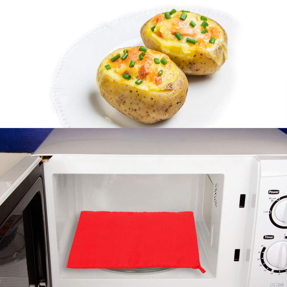 Chisbbu Bolsa de Viaje f/ácil de Preparar Bolsa de Cocina Lavable para microondas Patatas
