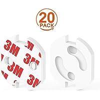 BABYSHINE® 20x Premium Steckdosenkindersicherung Baby Kindersicherung für Steckdose - Drehmechanismus zum Kleben
