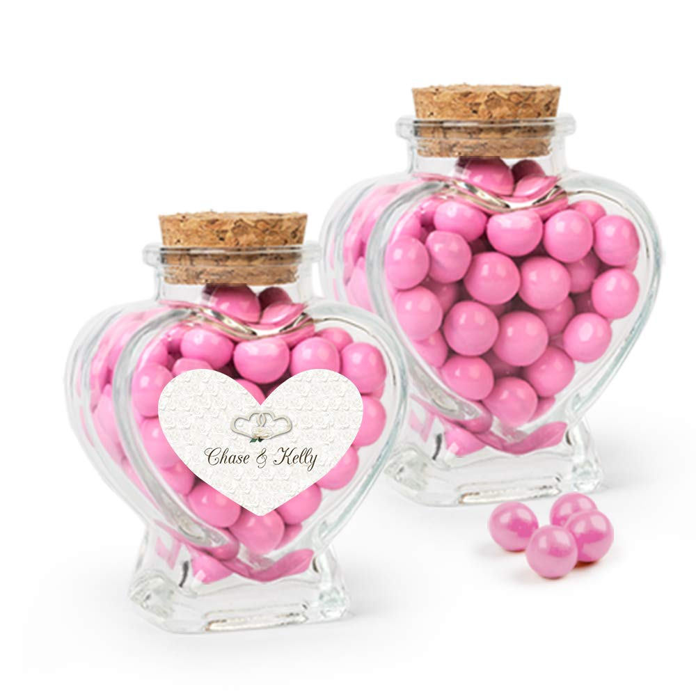 Amazon Wedding Favors Personalized Candy Glass Heart Jars With