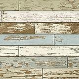 NuWallpaper NU2188 Old Salem Vintage Wood Peel & Stick Wallpaper