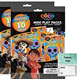 "Disney Coco 20 Mini Play Packs Party Favors Bundle With 20"" Thank you Cards (2 bags of 10)"