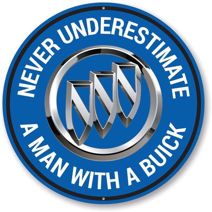 """Buick Garage Sign, Buick Logo, Garage Wall Decor, Sign, Popular Car Sign - 12"""" Circle"""