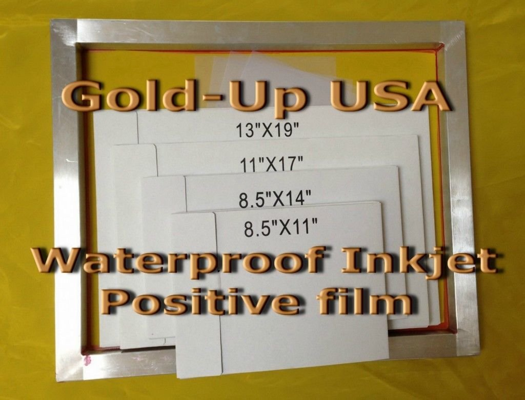 Waterproof Inkjet Transparency Film for Silk Screen 11'' x 17'' - 1 Pack (100 Sheets)